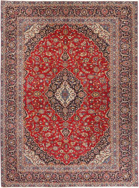 Keshan Patina Matta 284X375 Äkta Orientalisk Handknuten Mörkröd/Mörkbrun Stor (Ull, Persien/Iran)