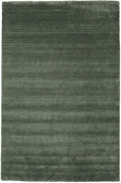 Handloom Fringes - Forest Green Rug 200X300 Modern Dark Grey/Olive Green/Dark Green (Wool, India)