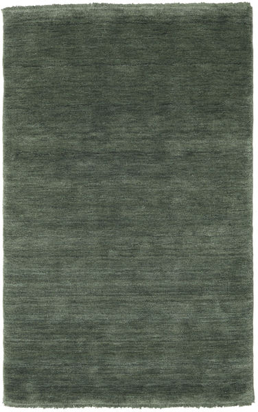Handloom Fringes - Forest Green Rug 100X160 Modern Dark Grey/Dark Green (Wool, India)