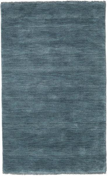 Handloom Fringes - Petrolblå Matta 100X160 Modern Blå (Ull, Indien)