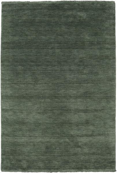 Handloom Fringes - Bosgroen Vloerkleed 160X230 Modern Donkergrijs/Olijfgroen (Wol, India)