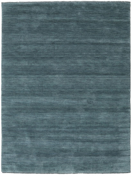 Handloom Fringes - Deep Petrol Rug 160X230 Modern Blue (Wool, India)