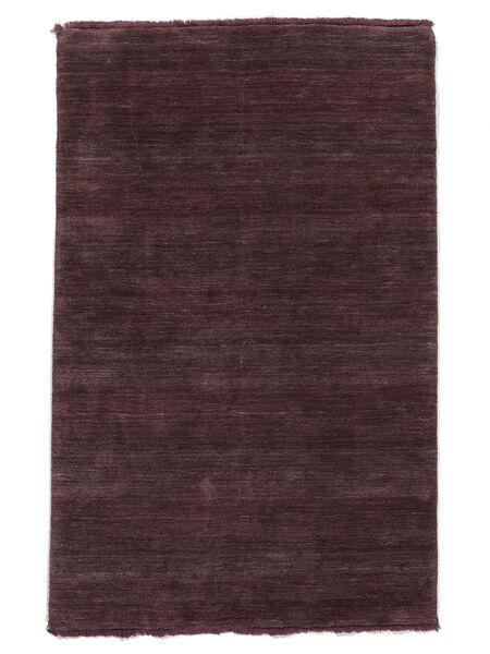 ハンドルーム Fringes - ディープワイン 絨毯 160X230 モダン 濃い茶色/濃い紫 (ウール, インド)