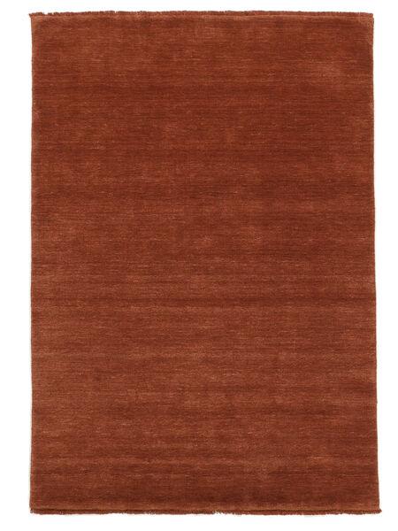 Handloom Fringes - Roest Vloerkleed 140X200 Modern Roestkleur/Rood/Donkerrood (Wol, India)