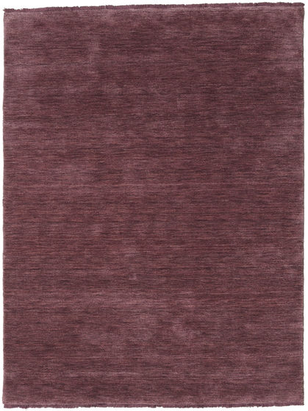 Handloom Fringes - Vinröd Matta 140X200 Modern Mörklila/Mörkbrun (Ull, Indien)