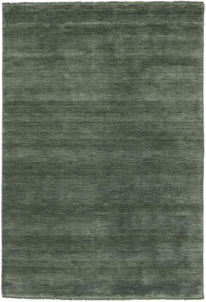 Handloom Fringes - Waldgrün Teppich  140X200 Moderner Dunkelgrau/Dunkelgrün (Wolle, Indien)