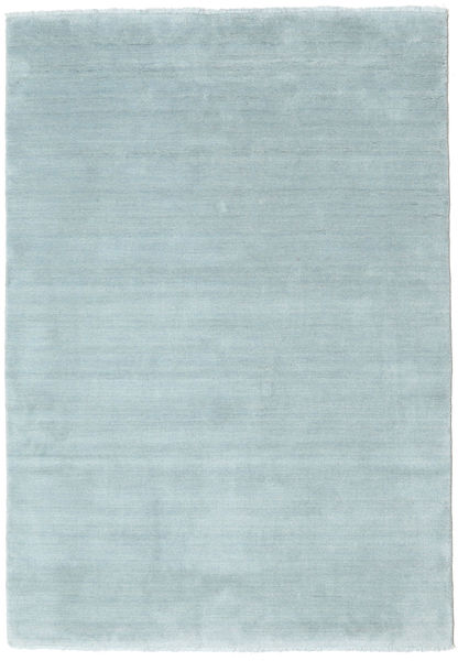 Handloom Fringes - Ice Blue Rug 140X200 Modern Light Blue (Wool, India)