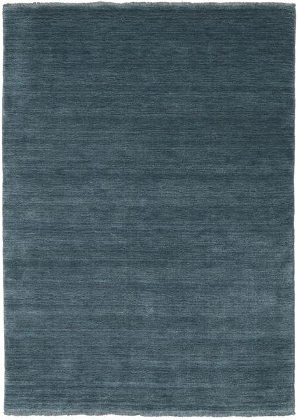 Handloom Fringes - Deep Petrol Rug 140X200 Modern Blue/Dark Blue (Wool, India)
