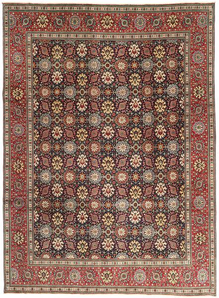 Tabriz Patina Matto 248X337 Itämainen Käsinsolmittu Tummanpunainen/Tummanruskea (Villa, Persia/Iran)