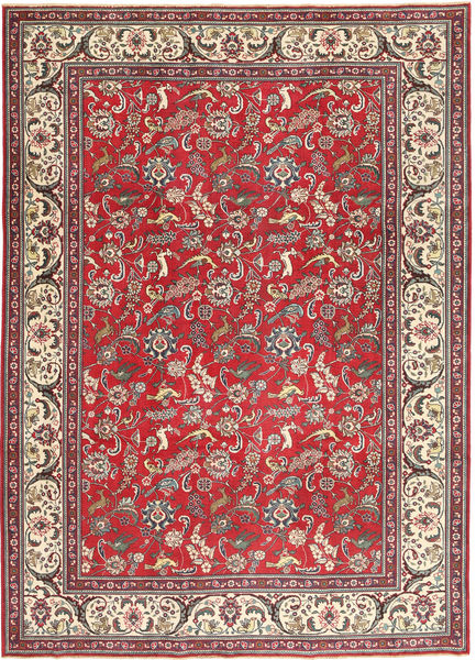 Tabriz Patina Rug 248X344 Authentic  Oriental Handknotted Brown/Dark Red (Wool, Persia/Iran)