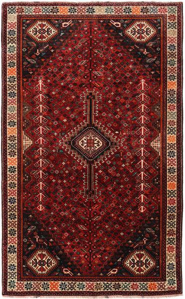 Ghashghai Matto 166X269 Itämainen Käsinsolmittu Tummanpunainen/Tummanruskea (Villa, Persia/Iran)