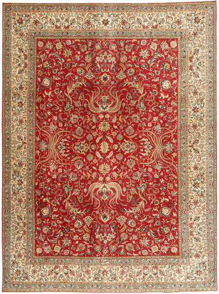 Tabriz Patina Rug 292X392 Authentic  Oriental Handknotted Light Brown/Rust Red Large (Wool, Persia/Iran)
