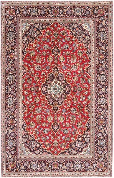 Kashan Patina Tapis 197X300 D'orient Fait Main Marron Clair/Violet (Laine, Perse/Iran)