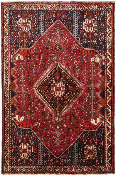 Kaszkaj Dywan 156X238 Orientalny Tkany Ręcznie Ciemnoczerwony/Czarny (Wełna, Persja/Iran)