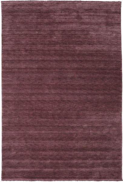 Handloom Fringes - Deep Wine Matto 300X400 Moderni Tummanvioletti/Tummanruskea Isot (Villa, Intia)