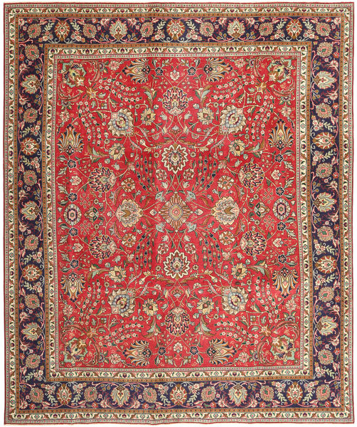 Tabriz Patina Rug 288X342 Authentic  Oriental Handknotted Light Brown/Rust Red Large (Wool, Persia/Iran)