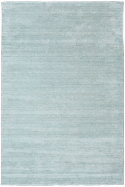Handloom fringes - Ice Blue carpet CVD19115
