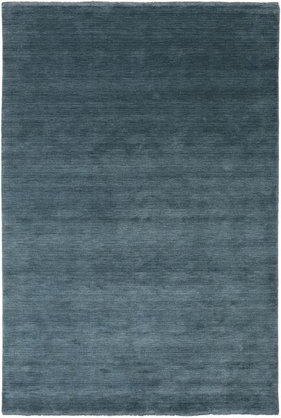 Handloom Fringes - Petrolblauw Vloerkleed 200X300 Modern Blauw/Donkerblauw (Wol, India)