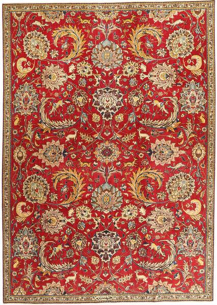 Tabriz Patina Matto 230X319 Itämainen Käsinsolmittu Tummanpunainen/Vaaleanruskea (Villa, Persia/Iran)