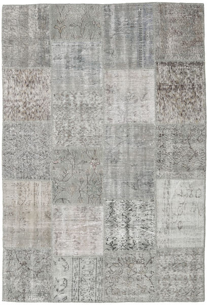 Patchwork Rug 156X230 Authentic  Modern Handknotted Light Grey (Wool, Turkey)