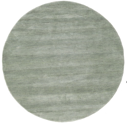 Handloom - Soft Teal Matta Ø 150 Modern Rund Ljusgrå (Ull, Indien)
