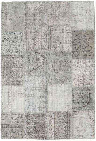 Patchwork Matto 159X232 Moderni Käsinsolmittu Vaaleanharmaa/Beige (Villa, Turkki)