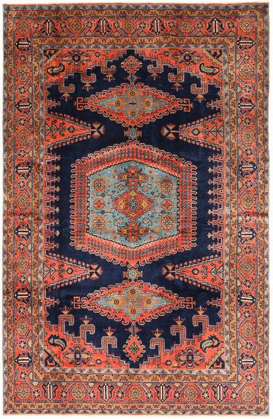 Wiss Patina Matta 228X350 Äkta Orientalisk Handknuten Mörkröd/Mörkgrå (Ull, Persien/Iran)