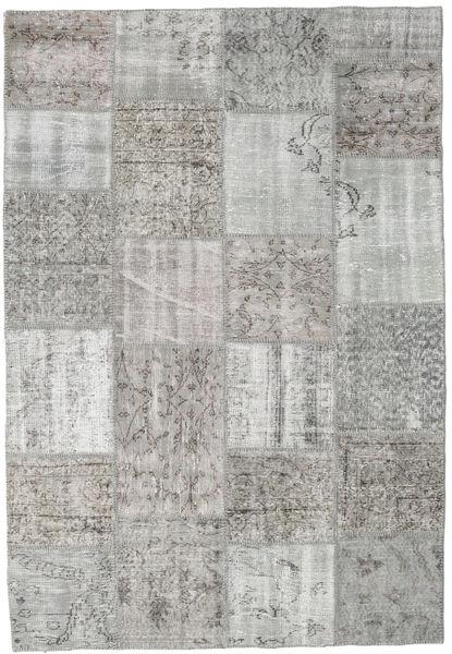 Patchwork Matto 160X233 Moderni Käsinsolmittu Vaaleanharmaa/Beige (Villa, Turkki)