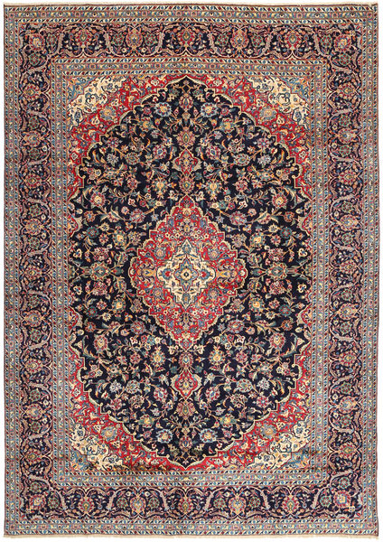 Keshan Rug 296X407 Authentic  Oriental Handknotted Black/Light Grey Large (Wool, Persia/Iran)