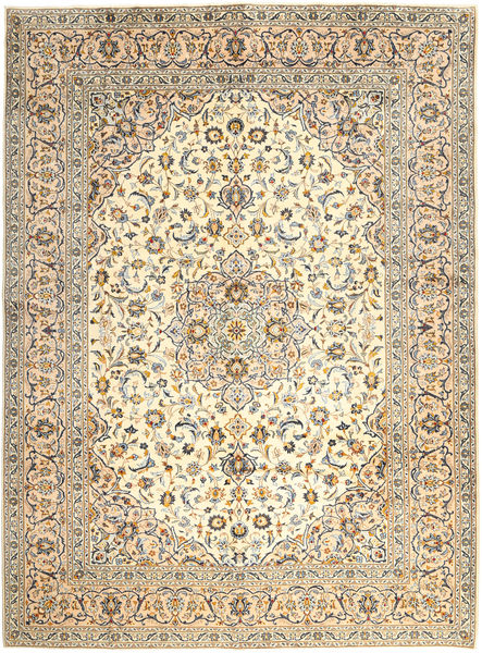 Keshan Rug 300X400 Authentic  Oriental Handknotted Beige/Light Brown Large (Wool, Persia/Iran)