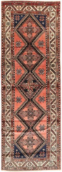 Hamadan Matto 110X320 Itämainen Käsinsolmittu Käytävämatto Vaaleanruskea/Tummanruskea (Villa, Persia/Iran)