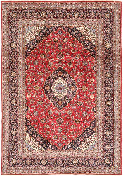 Keshan Matta 240X348 Äkta Orientalisk Handknuten Brun/Roströd (Ull, Persien/Iran)
