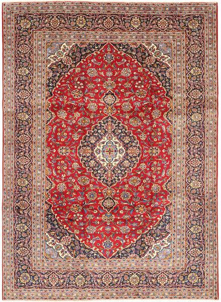 Keshan Rug 245X338 Authentic  Oriental Handknotted Dark Red/Rust Red (Wool, Persia/Iran)