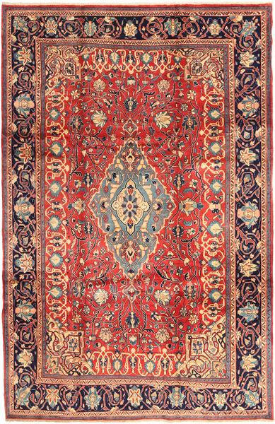 Sarough Matto 218X336 Itämainen Käsinsolmittu Ruskea/Tummanharmaa (Villa, Persia/Iran)