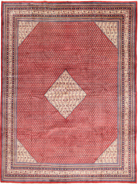 Sarough Mir Matto 282X382 Itämainen Käsinsolmittu Pinkki/Vaaleanruskea Isot (Villa, Persia/Iran)