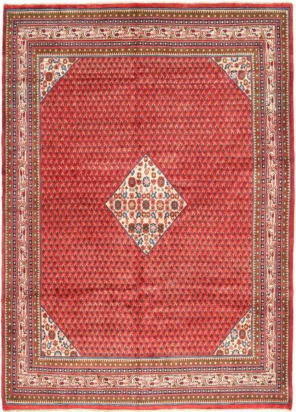 Sarouk Mir Rug 217X310 Authentic  Oriental Handknotted Dark Red/Rust Red (Wool, Persia/Iran)