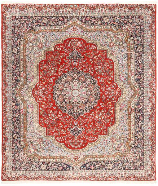 ケルマン Lavar 絨毯 254X294 オリエンタル 手織り 薄茶色/ライトピンク 大きな (ウール, ペルシャ/イラン)