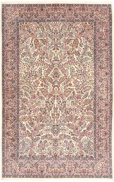 Kerman Lavar Matta 213X315 Äkta Orientalisk Handknuten Ljusbrun/Beige (Ull, Persien/Iran)