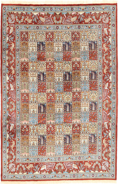 Moud Sherkat Farsh Rug 190X297 Authentic  Oriental Handknotted Light Brown/Light Grey (Wool, Persia/Iran)