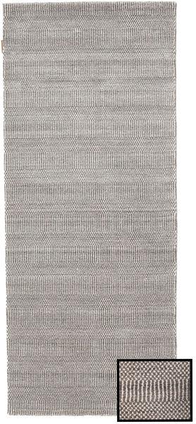 Bambu Grass - Beige Matta 80X200 Modern Hallmatta Ljusgrå/Vit/Cremefärgad/Mörkgrå (Ull/Bambusilke, Turkiet)
