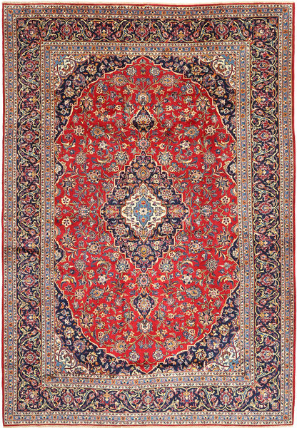 Keshan Rug 265X380 Authentic  Oriental Handknotted Dark Red/Light Grey Large (Wool, Persia/Iran)