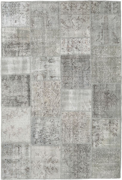Patchwork Rug 159X234 Authentic  Modern Handknotted Light Grey (Wool, Turkey)