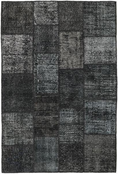 Patchwork Rug 138X204 Authentic  Modern Handknotted Dark Grey/Black (Wool, Turkey)