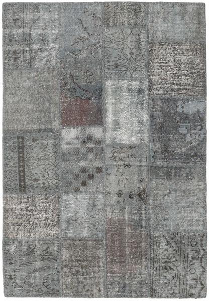 Patchwork Rug 138X201 Authentic  Modern Handknotted Light Grey/Dark Grey (Wool, Turkey)