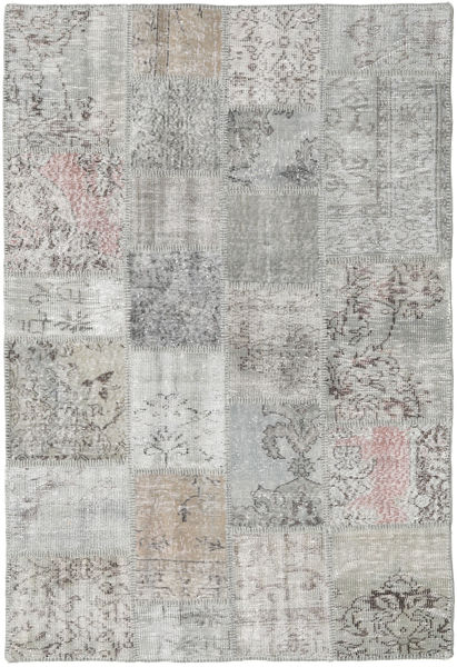 Patchwork Rug 137X201 Authentic  Modern Handknotted Light Grey (Wool, Turkey)