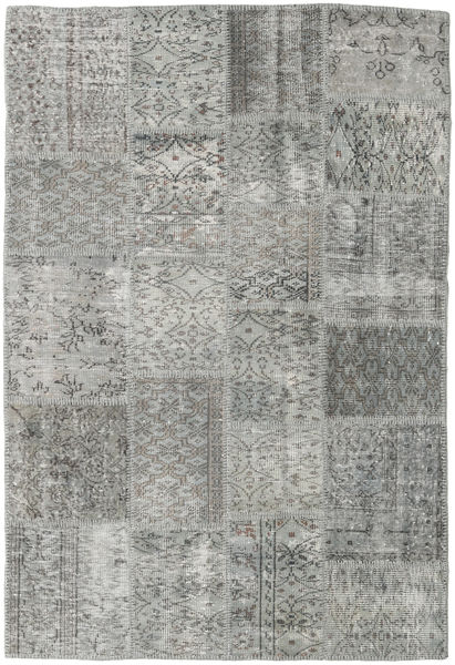 Patchwork Rug 139X204 Authentic  Modern Handknotted Light Grey/Dark Grey (Wool, Turkey)