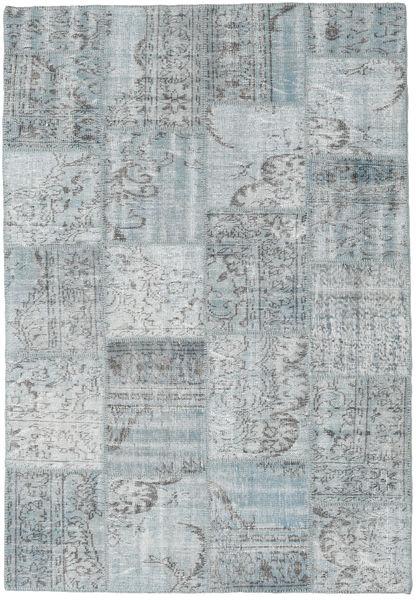 Patchwork Rug 160X230 Authentic  Modern Handknotted Light Grey (Wool, Turkey)