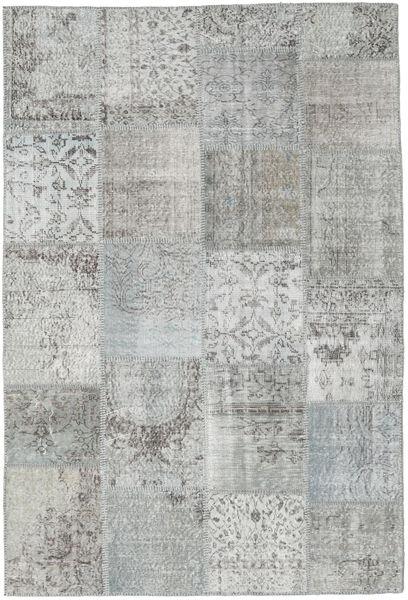 Patchwork Matto 157X233 Moderni Käsinsolmittu Vaaleanharmaa (Villa, Turkki)
