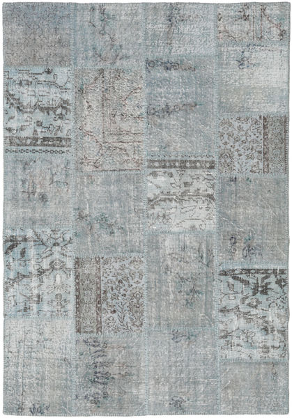 Patchwork Rug 157X231 Authentic  Modern Handknotted Light Grey (Wool, Turkey)