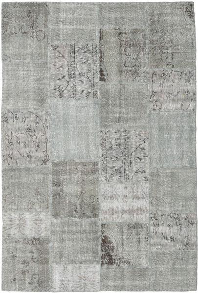 Patchwork Matto 159X236 Moderni Käsinsolmittu Vaaleanharmaa/Siniturkoosi/Tummanharmaa (Villa, Turkki)